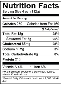 Wings Etc Nutrition Facts Nutrition Ftempo