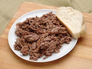 Picture of Plain Slow Roasted Shredded Beef - 1 lb.